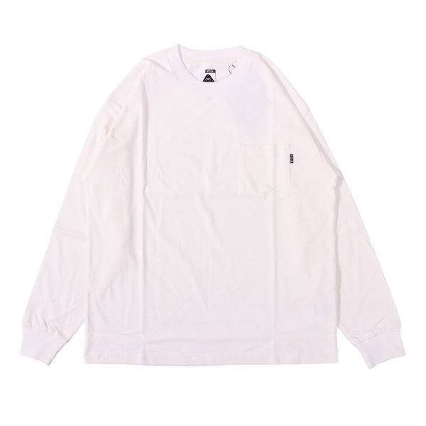 90'S HEAVY WEIGHT POCKET L/S TEE - WHITE