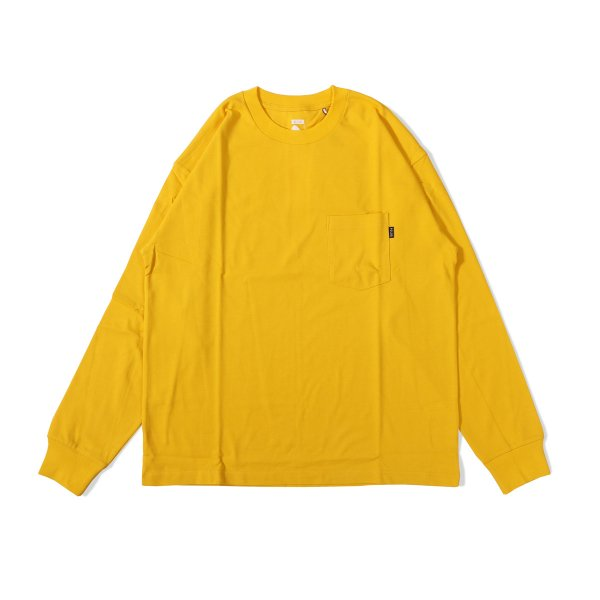90'S HEAVY WEIGHT POCKET L/S TEE - YELLOW