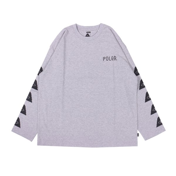 FURRY FONT-CYCLOPS JERSEY L/S TEE - HEATHER GRAY