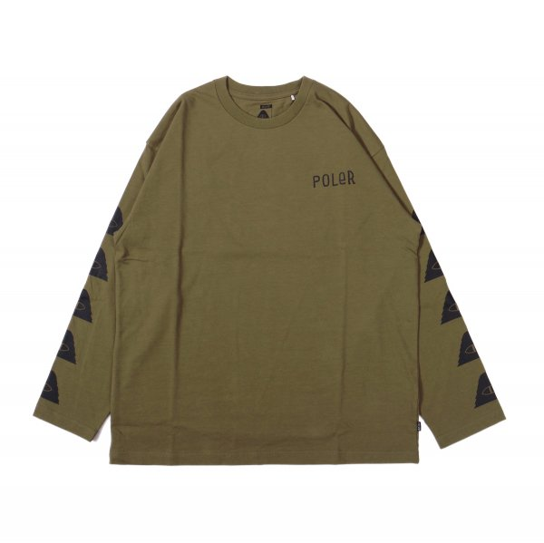 FURRY FONT-CYCLOPS JERSEY L/S TEE - OLIVE