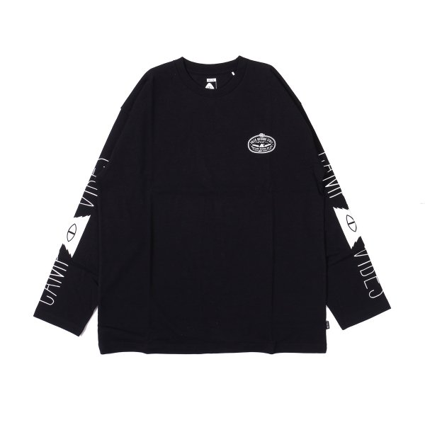 LASSO-CAMP VIBES JERSEY L/S TEE - BLACK