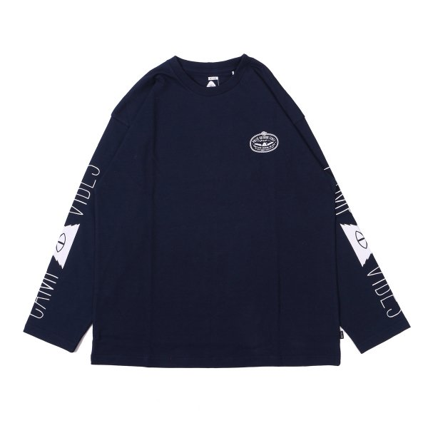 LASSO-CAMP VIBES JERSEY L/S TEE - NAVY