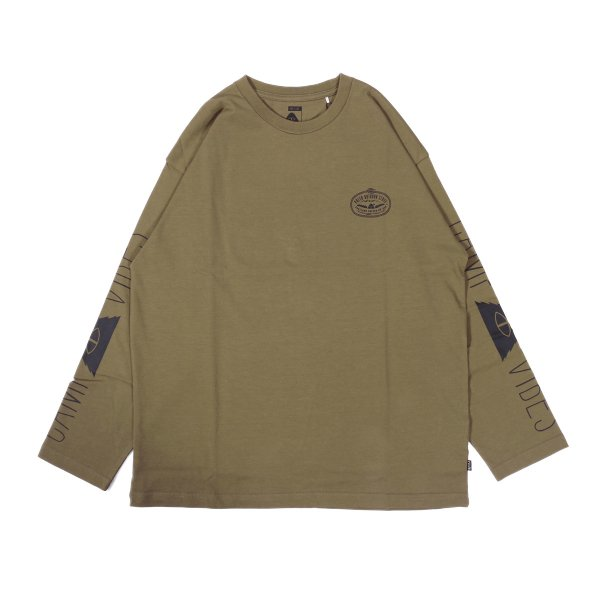 LASSO-CAMP VIBES JERSEY L/S TEE - OLIVE