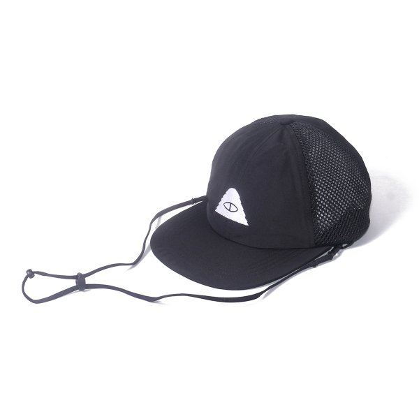 CYCLOPS 2WAY DRAWCORD MESH CAP - BLACK