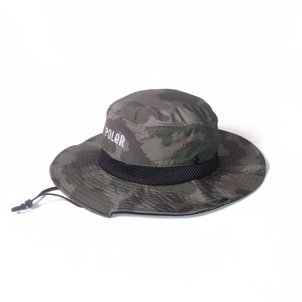 FURRY FONT 2WAY DRAWCORD LONG BRIM HAT - OLIVEFURRYCAMO