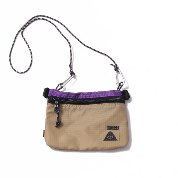 STUFFABLE POUCH SMALL - PURPLE/BEIGE
