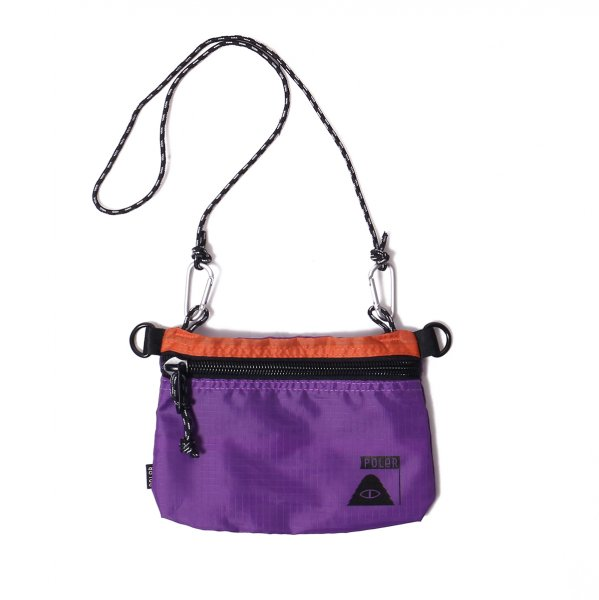 STUFFABLE POUCH SMALL - ORANGE/PURPLE