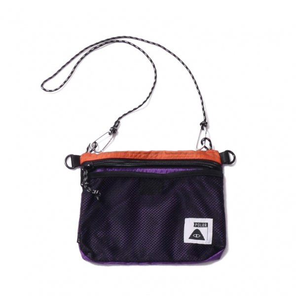 STUFFABLE POUCH - ORANGE/PURPLE