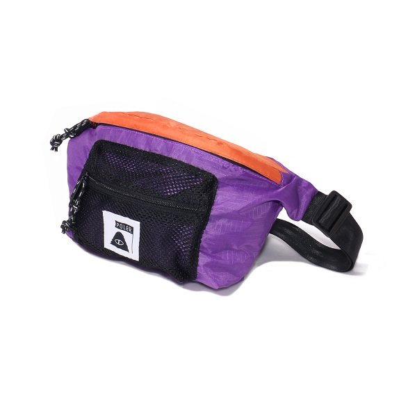 STUFFABLE FANNY PACK - ORANGE/PURPLE