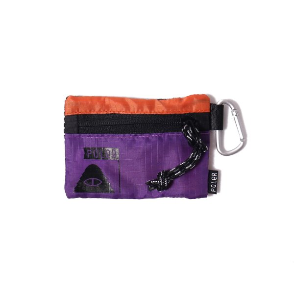 ZIPPER WALLET - PURPLE/ORANGE