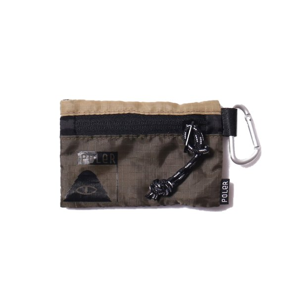 ZIPPER WALLET - BEIGE/OLIVE