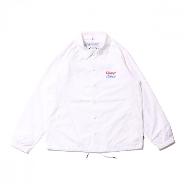 CAMP VIBES COACH JACKET - WHITE