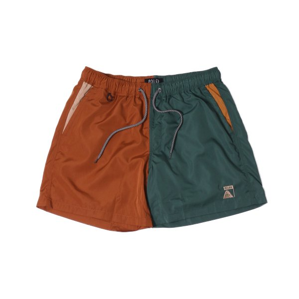 SUMMIT CRAZY PATTERN 2WAY BAGGY SHORTS - BROWN