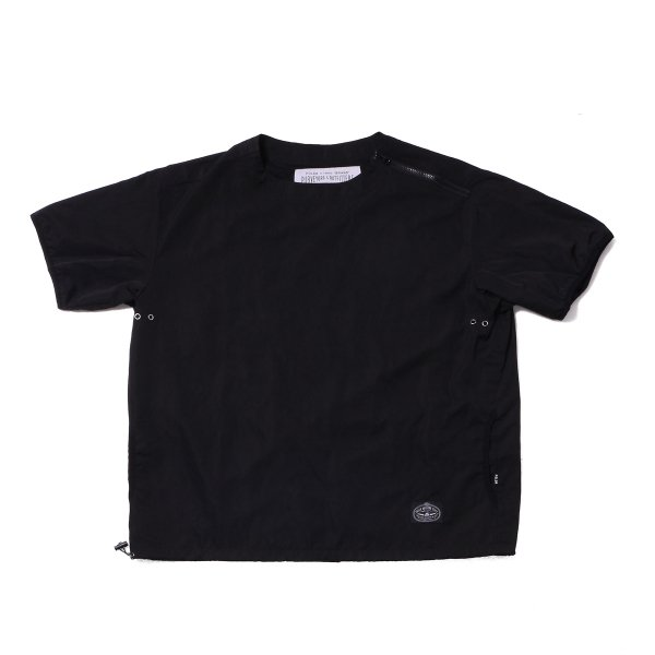 NYLON BAGGY CREW S/S TEE - BLACK