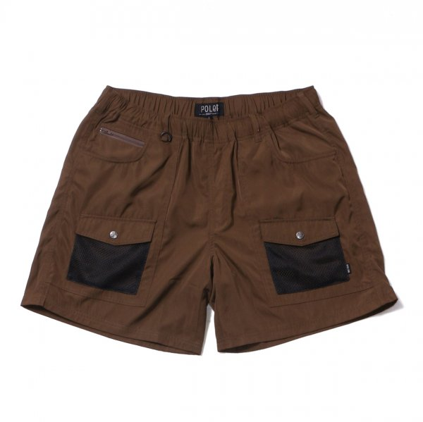 CAMP VOLLEY 2WAY MESH SHORTS - OLIVE