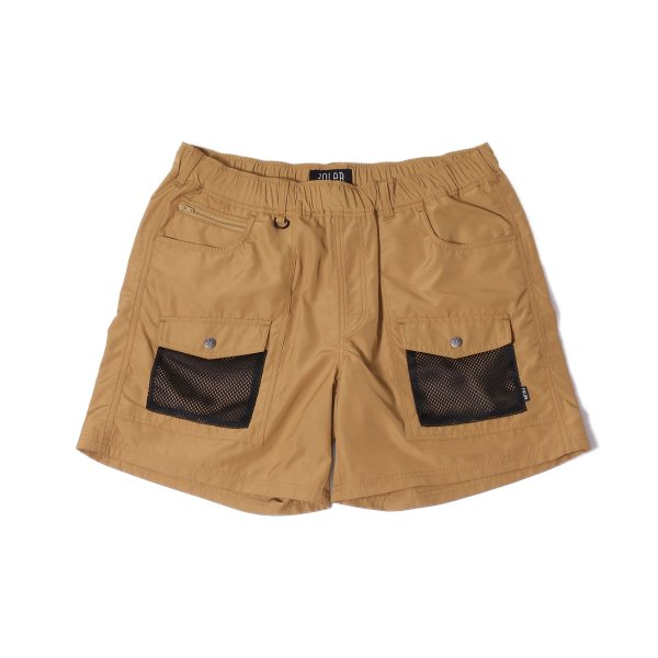 CAMP VOLLEY 2WAY MESH SHORTS - BEIGE