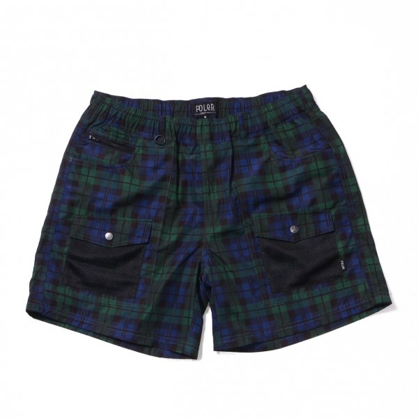 CAMP VOLLEY 2WAY MESH SHORTS - BLACKWATCH