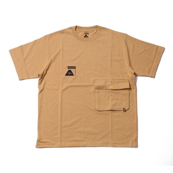 SUMMIT HEAVY WEIGHT DOUBLE POCKET TEE - BEIGE