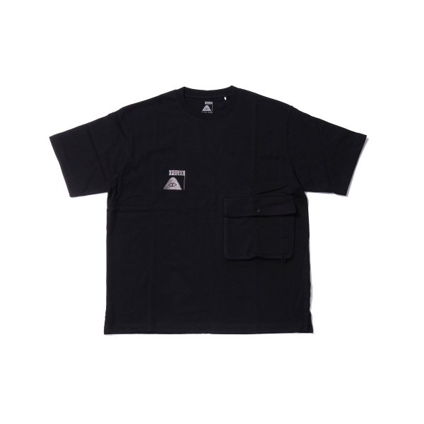 SUMMIT HEAVY WEIGHT DOUBLE POCKET TEE - BLACK