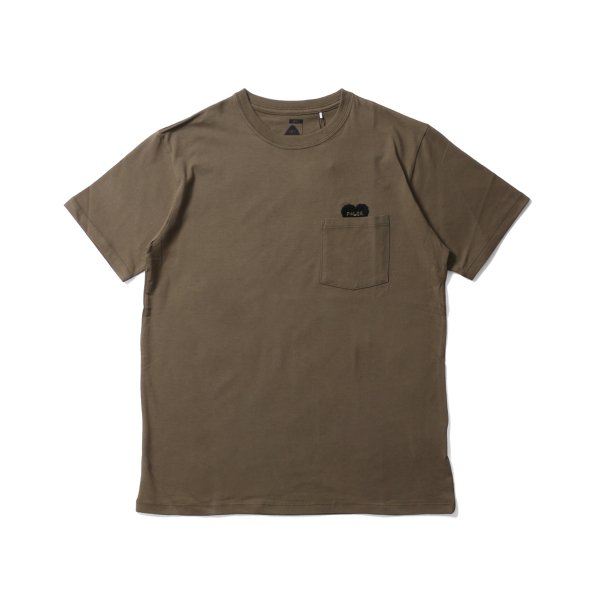 RISING HEART POCKET TEE - OLIVE