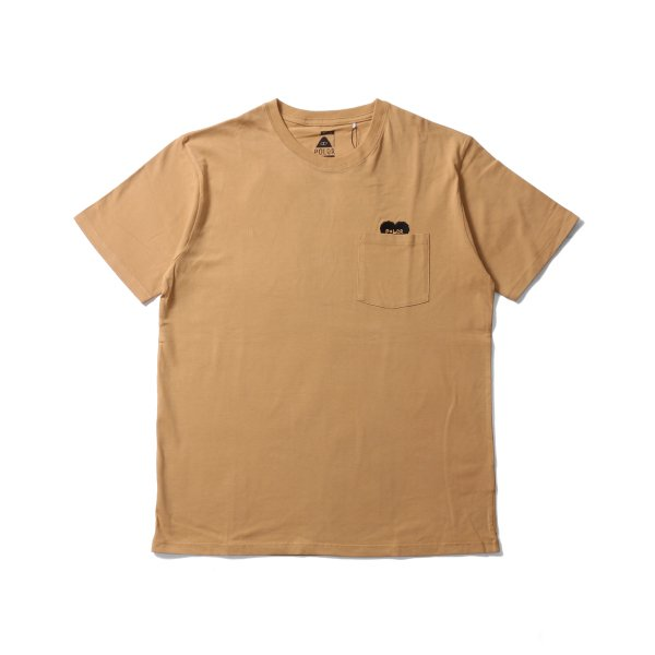RISING HEART POCKET TEE - BEIGE