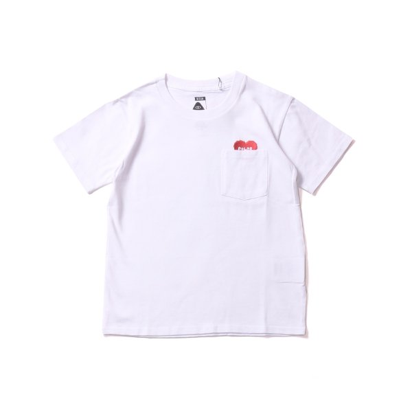 KIDS RISING HEART POCKET TEE - WHITE