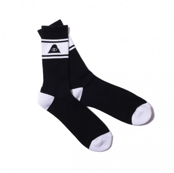 CYCLOPS SKATE SOCKS - BLACK