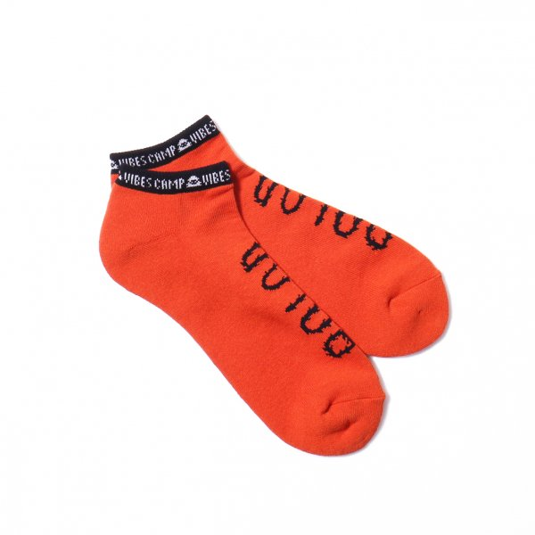 FURRY FONT SHORT SOCKS - ORANGE