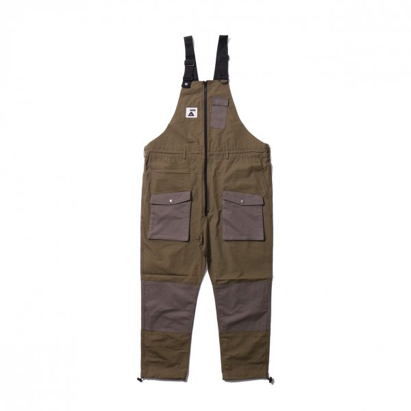 CAMP VIBES OVERALL - OLIVE