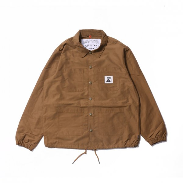 SUMMIT COVERALL COACH JACKET - BEIGE