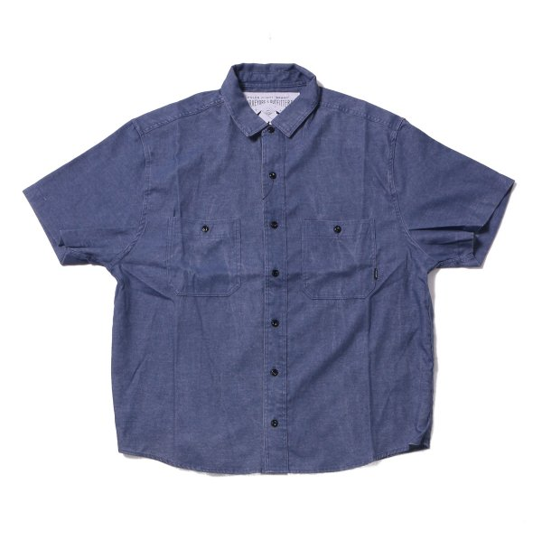 CHAMBRAY S/S BUTTON DOWN SHIRT - INDIGO