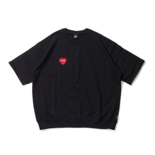 FURRY HEART BAGGY CREW S/S TEE - BLACK