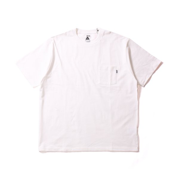 POLER HEAVY WEIGHT POCKET TEE - WHITE