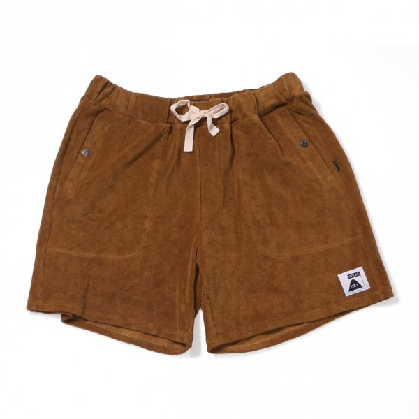 RELAX PILE SHORTS - BEIGE