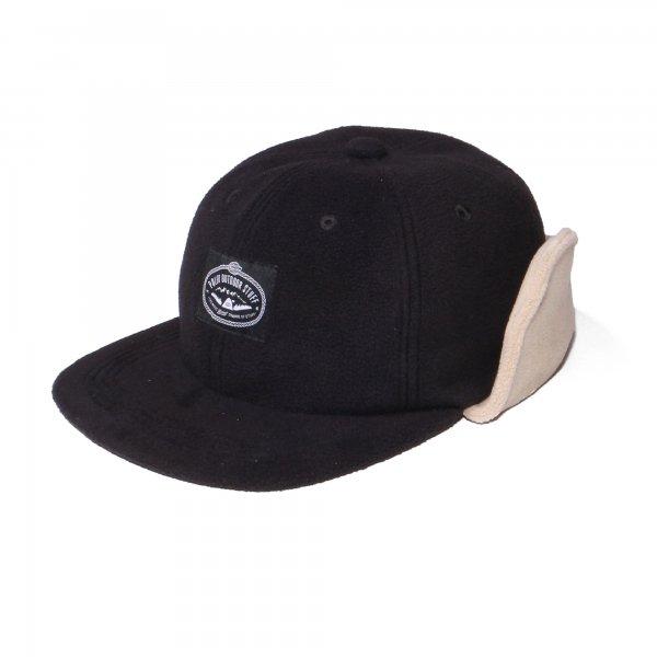 LASSO 6PANEL FLEECE EARFLAP CAP - BLACK/DARKBEIGE