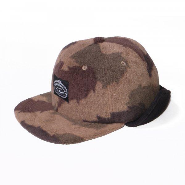 LASSO 6PANEL FLEECE EARFLAP CAP - FURRY CAMO/BLACK