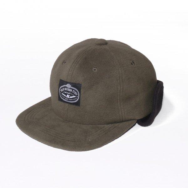 LASSO 6PANEL FLEECE EARFLAP CAP - OLIVE/BLACK