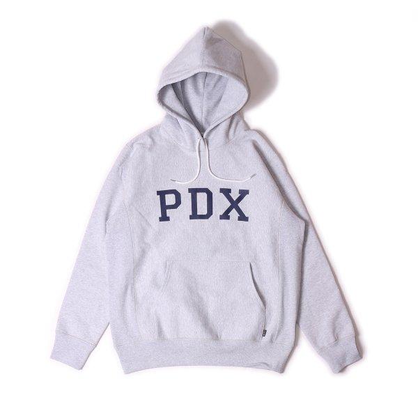 PDX HEAVY WEIGHT HOODIE - HEATHER WHITE