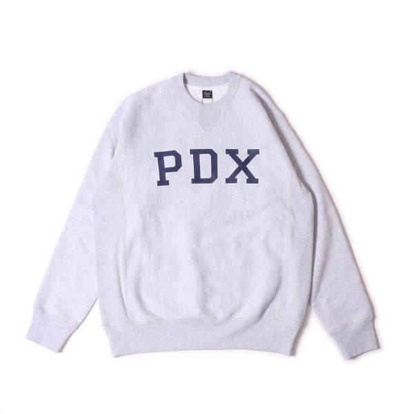 PDX HEAVY WEIGHT CREW NECK - HEATHER WHITE