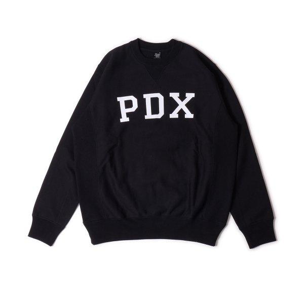 PDX HEAVY WEIGHT CREW NECK - BLACK