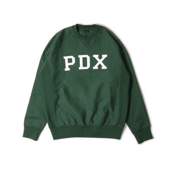 PDX HEAVY WEIGHT CREW NECK - DARK GREEN