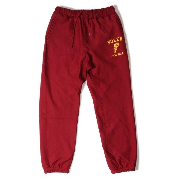 WF HEAVY WEIGHT SWEAT PANTS - WINE
