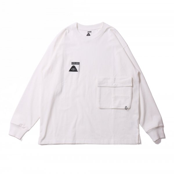 SUMMT HEAVY WEIGHT DOUBLE POCKET L/S TEE - WHITE