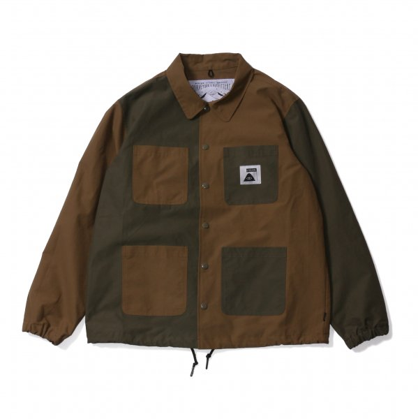 SUMMIT COVERALL COACH JACKET - BEIGE MULTI