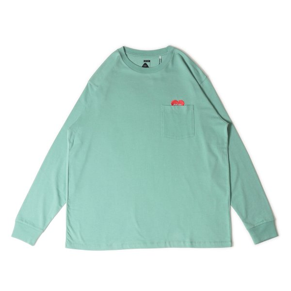 AUTUMN HAS COME POCKET L/S TEE - WASABI
