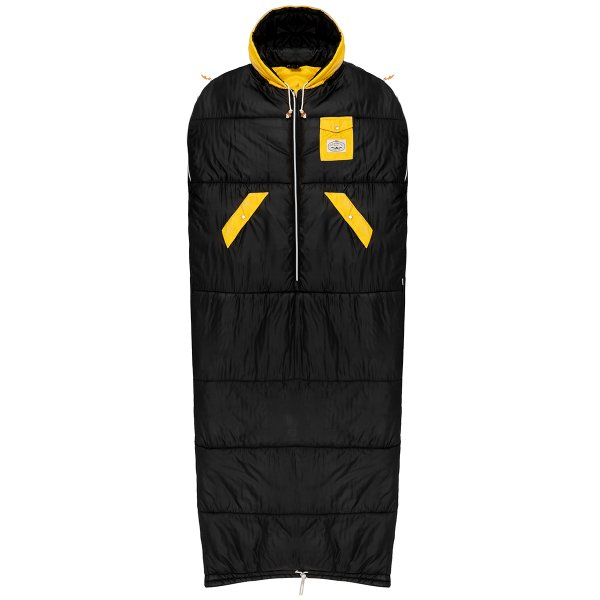 THE REVERSIBLE NAPSACK - BLACK MUSTARD