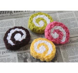 毛糸のおもちゃ ロールケーキ