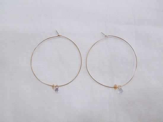 wire hoop amethyst
