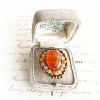 ビーズ指輪(リング) オレンジ カーネリアンフルーティー