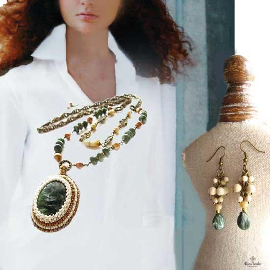 天然石 ペンダントトップ 大粒 ネックレス セラフィナイト - 天使の羽